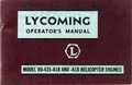 Lycoming Operator's Manual (Model VO-435-A1B And A1D Helicopter Engines)