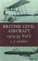 British Civil aircraft 1919-59 Vol 1