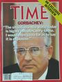 "Time Magazine: Gorbachev-""The situation in the world today is highly comples, very tense. I would even go so far as to say it is explosive"""